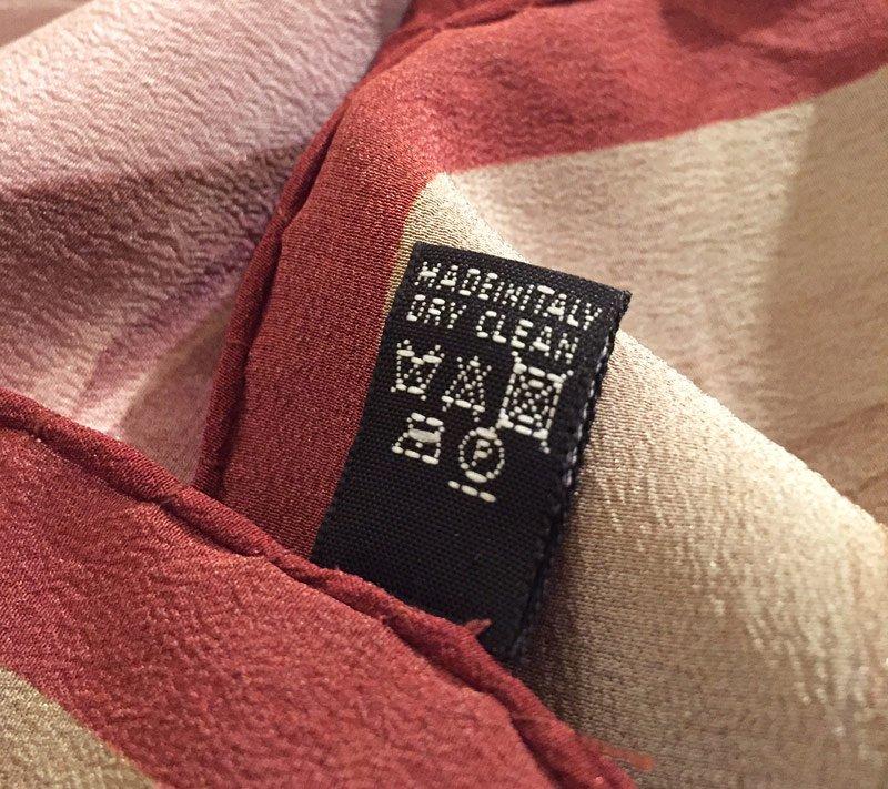 Stoff Label Hinten Material