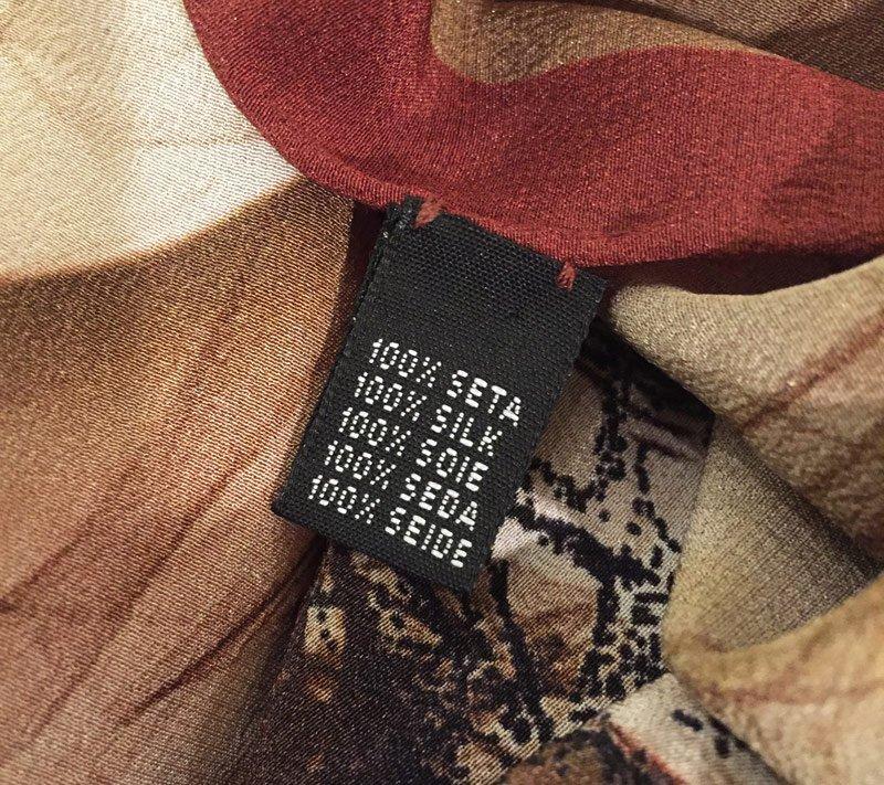 Stoff Label Vorne Material